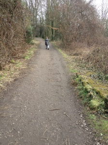 small boy in distance