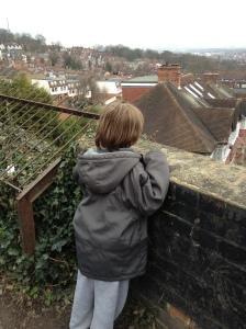 Looking across London